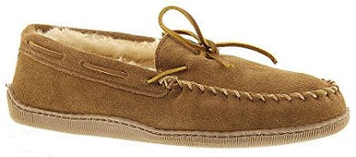 Minnetonka Men's Sheepskin Hardsole Moccasin
