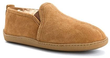 Minnetonka Men's Twin Gore Sheepskin Slippers