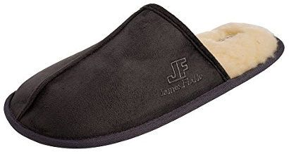 J. Fiallo Men's Velour Scuff House Slipper