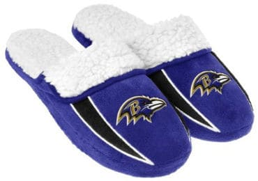 2013 NFL Football Men´s Team Logo Sherpa Slippers
