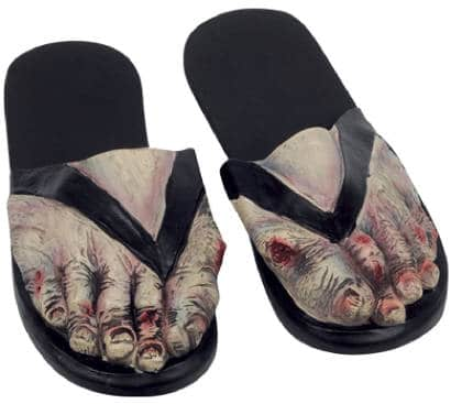 Zombie Undead Feet Latex Costume Sandals