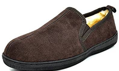 Dream Pairs Men's Fur-Loafer-02 Suede Slippers