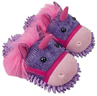 Aroma Home Fuzzy Friends Women's Unicorn Slippers