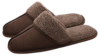 OSHOW Men's Scuff Bedroom Home Slippers