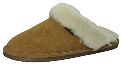 Eurow Sheepskin Women's Hardsole Scuff Slipper