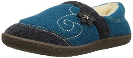 ACORN Women's Boiled Wool Edelweiss Slipper Moccasin