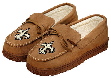 NFL Football Men's Team Logo Moccasin Slippers