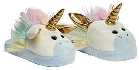 Stompeez Animated Unicorn Plush Slippers
