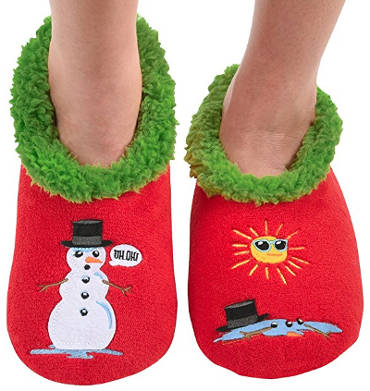 Snoozies Ugly Christmas slipper socks