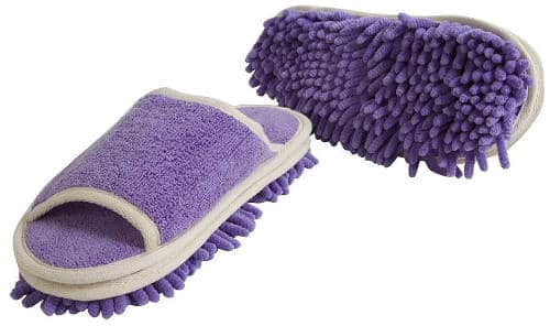 Evriholder Genie Microfiber Women's Slippers for Floor Cleaning
