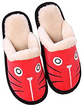 Zoe's Men's and Women's Cute Winter Warm Slippers