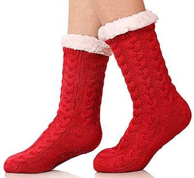 SDBing Women's Winter Christmas Gift Slipper Socks