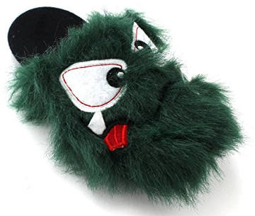 K.I.C.S. Boys Girls Black Green Monster Scuff Slippers