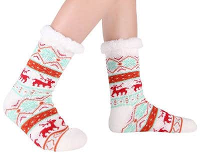 Christmas Slipper Socks with Grippers