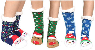Christmas Holiday Slipper Socks
