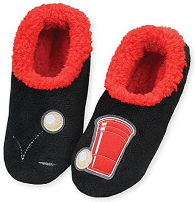 Snoozies Men's Mancave Classic Splitz Slipper Socks