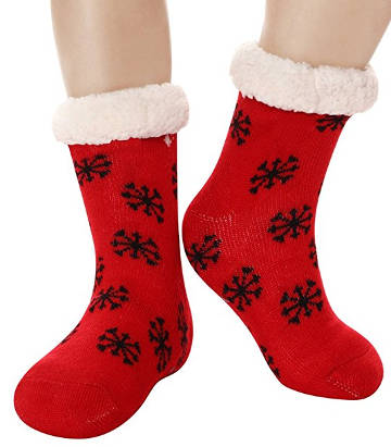 Furry Slipper Socks and Christmas Stockings