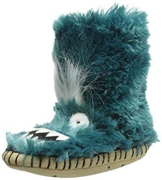 Hatley Little Boys' Fuzzy Fleece Slippers-Ice Monsters