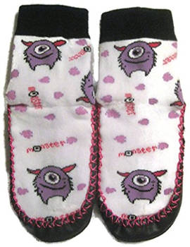Marilyn girls' monster slipper socks