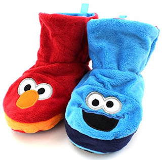Elmo cookie monster kids' slipper