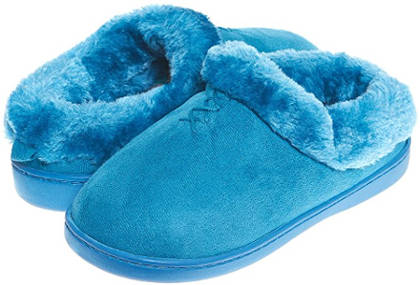 Jockey Women's Lena Microsuede Faux Fur Slippers