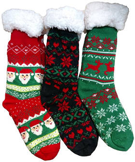 Christmas themed slipper socks