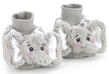Bearington Collection Baby Stuffed Elephant Animal Crib Slippers