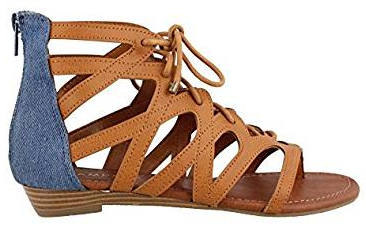 Rampage Women's Santini Lace-up Open toe Ankle Strap Gladiator Sandal