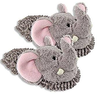Women's Aroma Home Elephant Fuzzy Friends Slippers