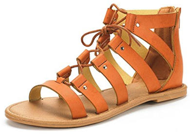 Dream Pairs Women's Open Toe Ankle Strap Gladiator Flat Sandals