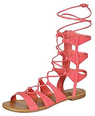 Gilly tie wrap gladiator sandals