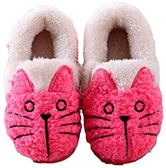 MiYang Winter Women's/ Kids Cat House Slipper Booties