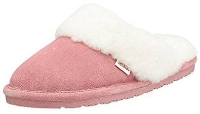 Pink suede slippers
