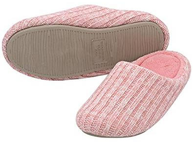 HomeIdeas Women's Cashmere Cotton Knitted Anti-Slip House Slippers