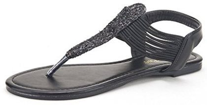 Dream Pairs Sparkly Women's Elastic Strappy Gladiator Sandal