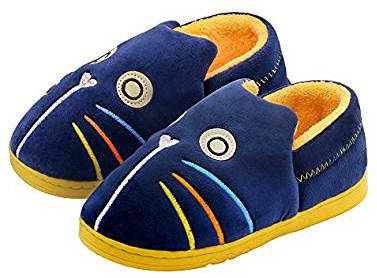 OSHOW Kids Cotton Slip-On House Slippers