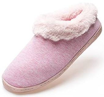 Pink cotton slippers