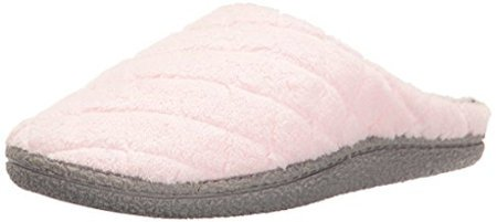 Dearfoams Women's Quilted Microfiber Terry Clog Slippers