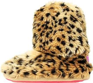 Blazin Roxx Women's Leopard Boot Slippers