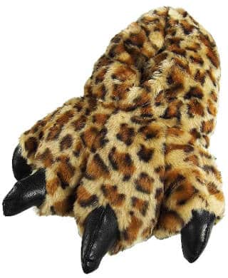 Wishpets Stuffed Animal Furry Leopard Slippers