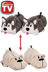 FlipaZoo Husky to Polar Bear Slippers