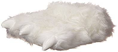 Wishpets Furry White Polar Bear Paw Slippers