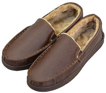 VLLY Leather Moccasin slippers
