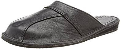 Calfskin leather slippers