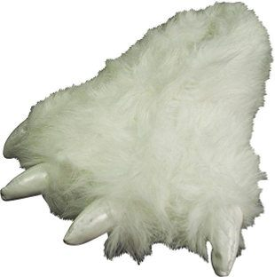 Norty White Polar Bear Animal Claw Slippers