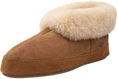 Leather bootie slippers