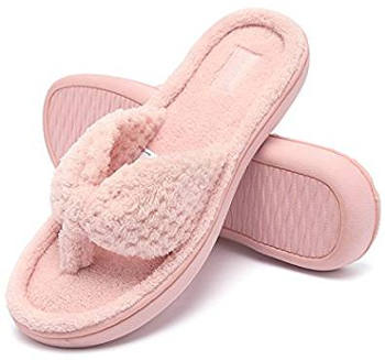 Women's Cozy Memory Foam Spa Thong Slippers