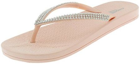 Capelli gem and rhinestone flip flops
