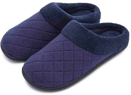 HomeTop soft winter memory foam coral fleece slippers