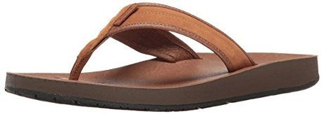 TEVA Men's M Azure Flip Leather Sandal
